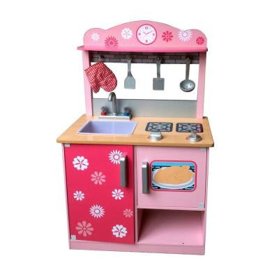 35.25 in. Play Kitchen with Play Accessories