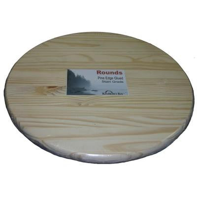 1 in. x 12 in. x 1 ft. Pine Edge Glued Panel Round Board