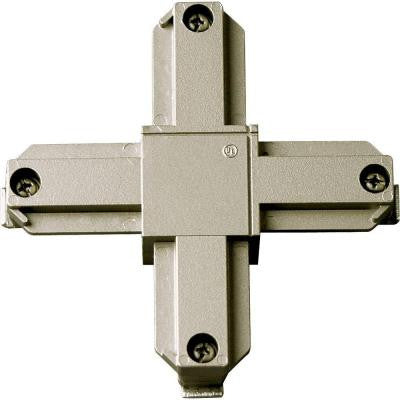 Brushed Nickel Track Accessory, Cross Connector
