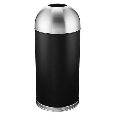 15 Gal. Black Round Dome Top Trash Can