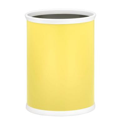 13 in. Lemon Oval Mylar Trash Can
