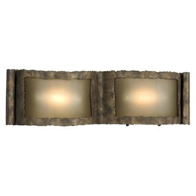 Negron 2-Light Bed Rock Halogen Bath Vanity Light