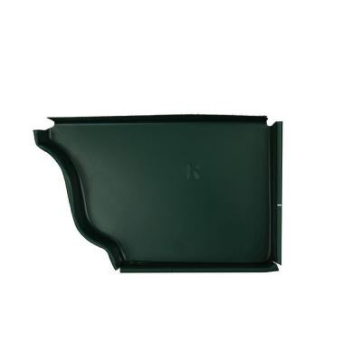6 in. Grecian Green Aluminum Right End Cap