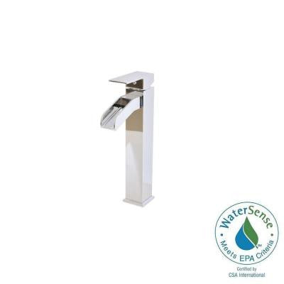 Single Hole 1-Handle High-Arc Bathroom Faucet in Chrome