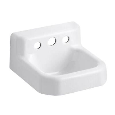 Trailer Wall-Mount Bathroom Sink in White