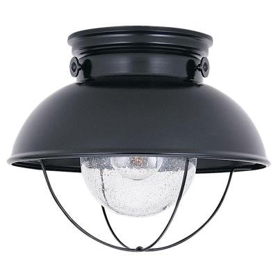 Sebring 1-Light Black Outdoor Ceiling Fixture