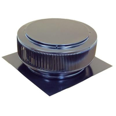 14 in. Black Powder Coated Aluminum Roof Vent No Moving Parts Wind Turbine