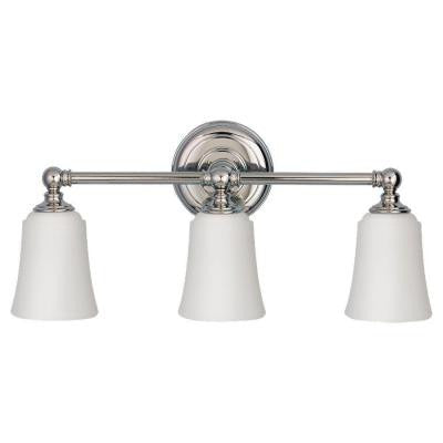 Huguenot Lake 3-Light Polished Nickel Vanity Light