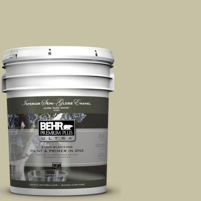 5-gal. #S350-3 Washed Olive Semi-Gloss Enamel Interior Paint