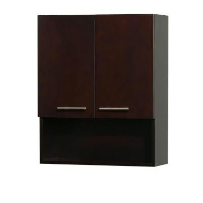 Centra 24 in. W x 8 1/2 in. D x 29 in. H Wall Cabinet in Espresso
