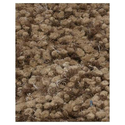 Elite Shag Brown 6 ft. 6 in. x 9 ft. 6 in. Area Rug