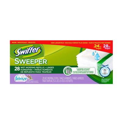 Sweeper Wet Cloth Refills with Febreze Lavender Vanilla and Comfort Scent (28-Count)