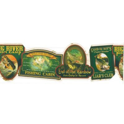 8.75 in. Fishing Signs Border