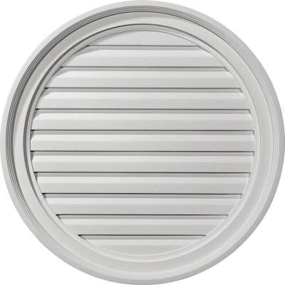 2 in. x 24 in. x 24 in. Functional Round Gable Louver Vent