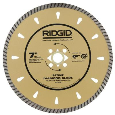 7 in. Diamond Stone Blade for Cutting Granite, Marble and Hard Stone