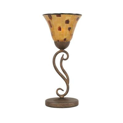 Concord 6.75 in. Bronze and Penshell Resin Lamp
