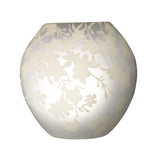 "4 "" Cherry-blossoms, frosted glass white"