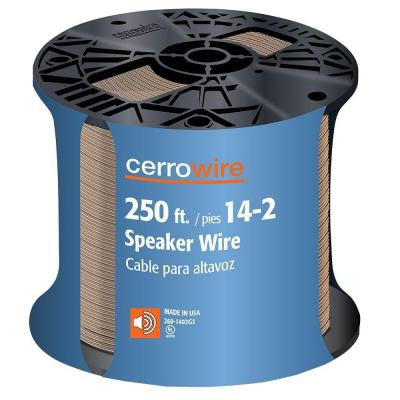 250 ft. Clear 14/2 Speaker Wire