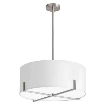 Larkin 3-Light White Chandelier