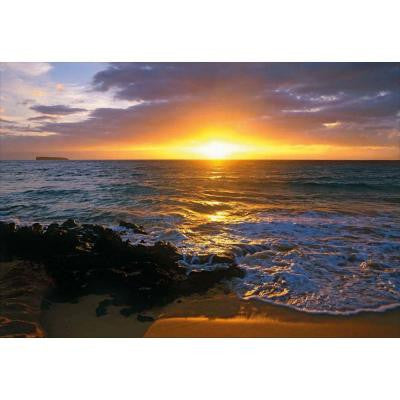 50 in. x 72 in. Makena Beach Wall Mural