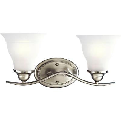 Trinity Collection 2-Light Brushed Nickel Bath Light