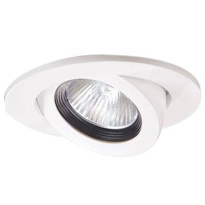 3 in. White Recessed Lighting Adjustable Gimbal Trim