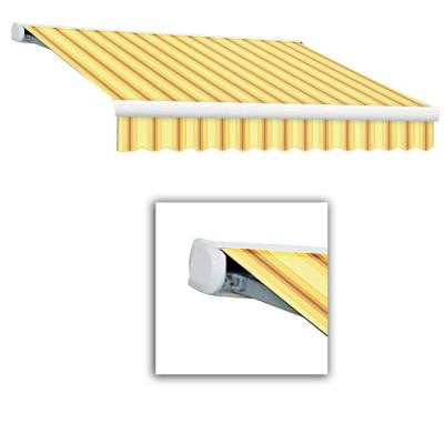 24 ft. Key West Full-Cassette Manual Retractable Awning (120 in. Projection) in Yellow/Terra