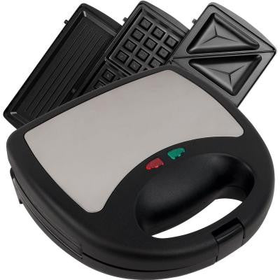 3-in-1 Sandwich Panini and Waffle Press