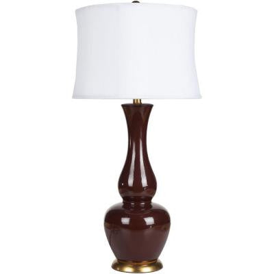 Cholet 37 in. Oxblood Table Lamp