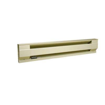 96 in. 2,000-Watt 240/208-Volt Electric Baseboard Heater in Almond