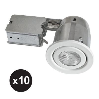500 Series 4 in. White Recessed Halogen Lighting Kit (10-Pack)