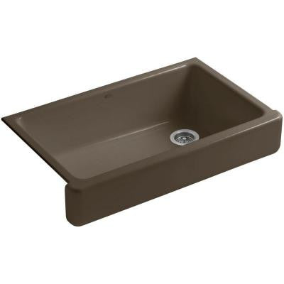 Whitehaven Undermount Apron-Front Cast Iron 36 in. Single Bowl Kitchen Sink in Suede
