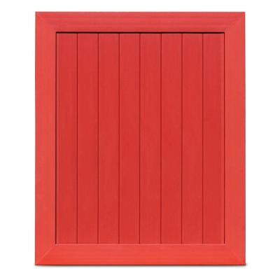 Pro Series 5 ft. x 6 ft. Barn Red Vinyl Anaheim Privacy Fence Gate