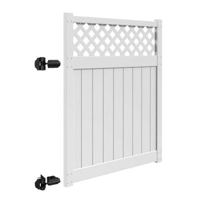 Valley 5 ft. x 6 ft. White Vinyl Un-Assembled Fence Gate