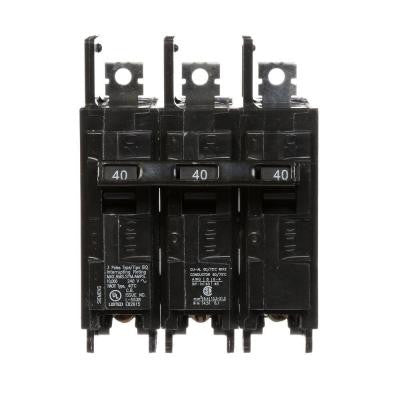 40 Amp Triple-Pole Type BQ 10 kA Lug-In/Lug-Out Circuit Breaker