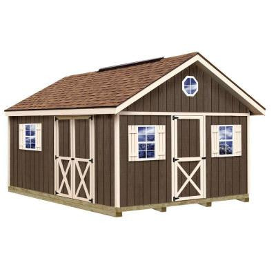 Fairview 12 ft. x 16 ft. Wood Storage Shed Kit with Floor Including 4 x 4 Runners