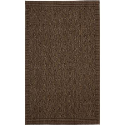 Palm Beach Chocolate 4 ft. x 6 ft. Area Rug