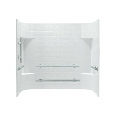 Accord 31.25 in. x 60 in. x 56-1/4 in. 3-piece Direct-to-Stud Tub Wall Set in White