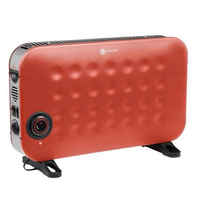 1500-Watt Convection Portable Heater with Timer and Fan - Red