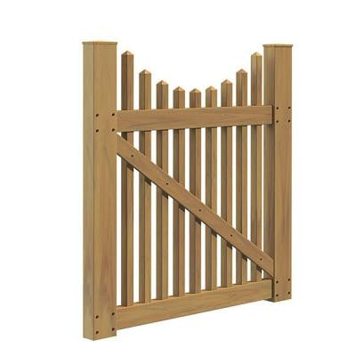 Ottawa Scallop 4 ft. x 4 ft. Cypress Vinyl Un-Assembled Fence Gate