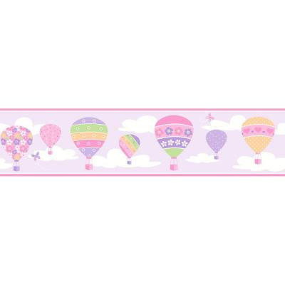 6.75 in. H Balloons Lilac Border