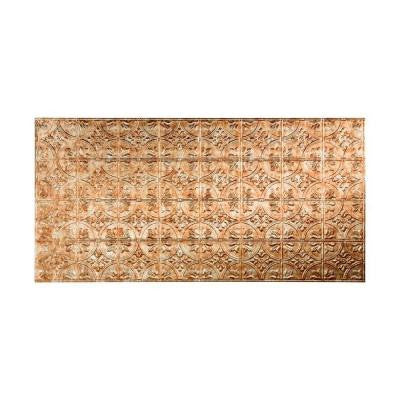 96 in. x 48 in. Traditional 2 Decorative Wall Panel in Bermuda Bronze