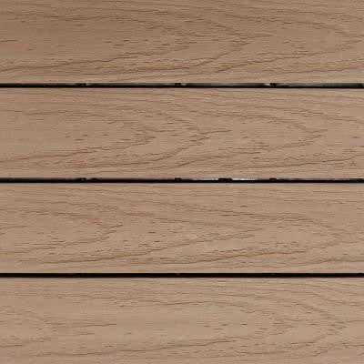 UltraShield Naturale 1 ft. x 1 ft. Outdoor Composite Quick Deck Tile Sample in Canadian Maple