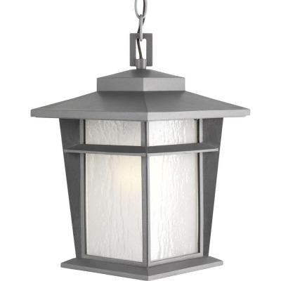 Loyal Collection 1-Light Textured Graphite Outdoor Fluorescent Hanging Lantern