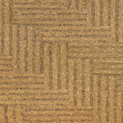 Natural Herringbone 1/2 in. Thick x 11-3/4 in. Wide x 35-1/2 in. Length Cork Flooring (23.17 sq. ft. / case)