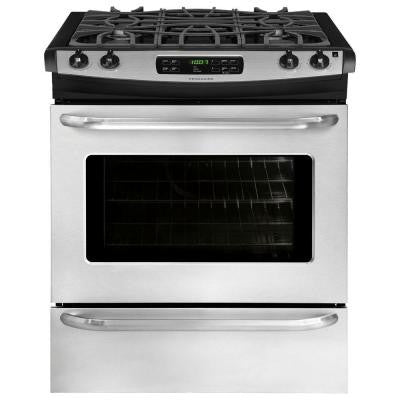 30 in. 4.6 cu. ft. Slide-In Gas Range with Self-Cleaning Oven in Stainless Steel