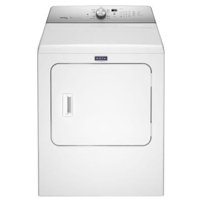 7.0 cu. ft. Electric Dryer with Steam in White