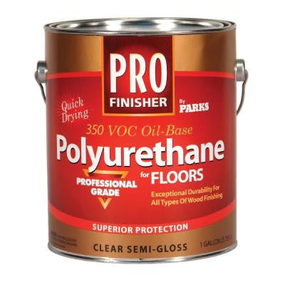 1 gal. Clear Semi-Gloss 350 VOC Oil-Based Interior Polyurethane (Case of 4)