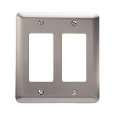 Steel 2 Decora Wall Plate - Pewter