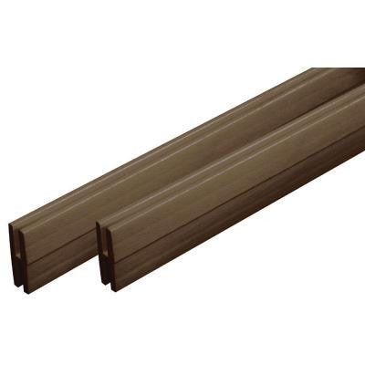 0.74 in. x 48 in. x 2.13 in. Brazilian Walnut Vinyl Divider Moulding (2-Pack)